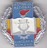 Insigna Festivalul National - Cintarea Romaniei  Aluminiu