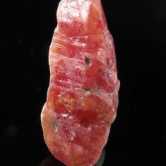 Rubin NATURAL CORINDON rosu - cristal CENTRAL ( cu virf ) 4, 95 ct. - netratat