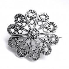 Brosa argint 925 filigranat floare
