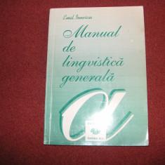 Manual De Lingvistica Generala - Emil Ionescu