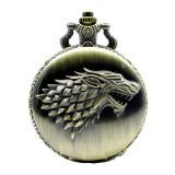 Pandantiv Medalion Lantisor Colier Ceas Game Of Thrones Wolf Stark