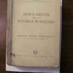 "PVM - ""Documente privind Istoria Romaniei / Razboiul pt. Independenta"" / Volum 3"