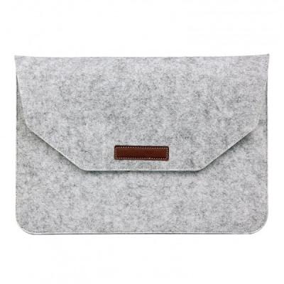 Husa plic universala pentru Macbook/tablete 15 inch, gri foto