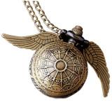 Pandantiv Medalion Lantisor Ceas Harry Potter Golden Snitch M1