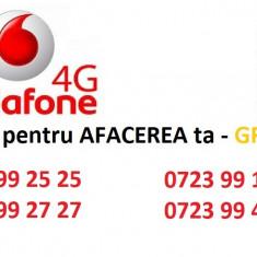 Vodafone 4 numere GRUP PLATINA - Cartela Vodafone