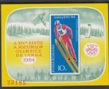 ROMANIA 1983  LP 1092  J. O. DE  IARNA  SARAJEVO COLITA  NEDANTELATA MNH, Nestampilat