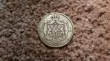 ROMANIA - 5 lei 1881- rege - 5 stele pe muchie  -  argint