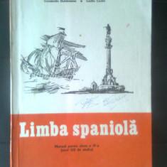 Limba spaniola - Manual pentru clasa a IX-a (an VIII de studiu), 1981 -Duhaneanu - Curs Limba Spaniola