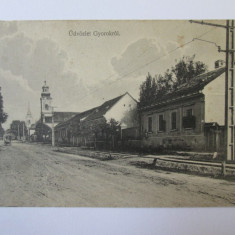 Rara! Carte postala Ghioroc/Gyorok judetul Arad,circulata 1918, Printata