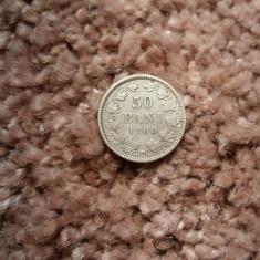 ROMANIA - 50 bani 1900 argint - Moneda Romania