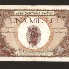 ROMANIA - 1000 LEI - 1938, Varianta cu SUPRATIPAR . Foarte frumoasa si rara ! - Bancnota romaneasca, An: 1940