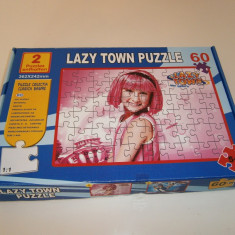 Lazy Town Puzzle, 60 piese, complet, stare foarte buna!