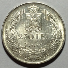 250 Lei 1941 NSD, Argint, Romania a UNC, Luciu de batere - Moneda Romania