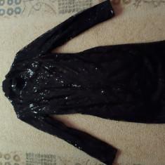 Rochie neagră cu paiete, mărime S/M, Negru