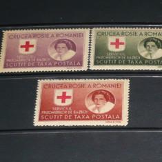 Romania 1946 – CRUCEA ROSIE. SERV PRIZONIERI DE RAZBOI, HARTIE GRI DT MNH M345