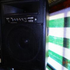 Boxe cu amplificare de 2x250W reali stick si SD