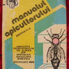 Manualul apicultorului 1986 carte de stuparit cresterea albinelor