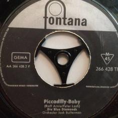 THE BLUE DIAMONDS - SUKIYAKI/PICCADILLY.. (1966/FONTANA/RFG) - VINIL Single/RAR - Muzica Pop Columbia