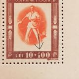 TINERETUL PROGRESIST 1946 - BL 4 CU EROARE MNH, Nestampilat