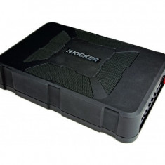 Subwoofer activ Kicker Hideaway Plug&Play cu incinta, diametru subwoofer 20 cm, putere maxima amplificator 150W