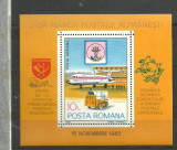 Romania 1983 - AVION ROMBAC 1-11, colita MNH, M403, Transporturi, Nestampilat