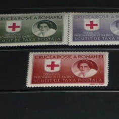 Romania 1946 – CRUCEA ROSIE. SERV PRIZONIERI DE RAZBOI, HARTIE ALBA DT MNH M389
