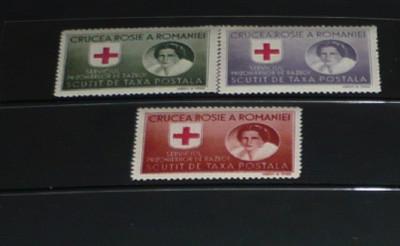 Romania 1946 – CRUCEA ROSIE. SERV PRIZONIERI DE RAZBOI, HARTIE ALBA DT MNH, K108 foto