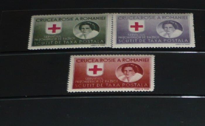 Romania 1946 – CRUCEA ROSIE. SERV PRIZONIERI DE RAZBOI, HARTIE ALBA DT MNH, K108