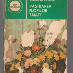 (C80101) PASTRAREA FLORILOR TAIATE DE ALEXANDRINA AMARIUTEI - Carte gradinarit