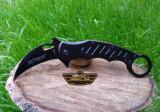 Briceag Karambit Fox Knives deschidere asistata Cs Go Negru, Fox Cutlery