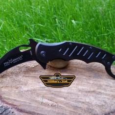 Briceag Karambit Fox Knives deschidere asistata Cs Go Negru