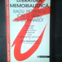 Literatura memorialistica - Radu Petrescu, Ion D. Sirbu, N. Steinhardt (1996)