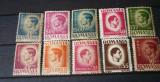 Romania 1945 – UZUALE REGELE MIHAI, 10 timbre nestampilate, AE8, Nestampilat