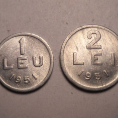 Lot 1 leu 1951 si 2 lei 1951 - Moneda Romania