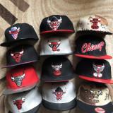 Sapca New Era Chicago Bulls snapback rap hip hop, Alta, Rosu