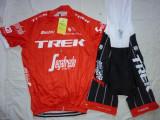 Echipament ciclism TREK 2018 set pantaloni cu bretele si tricou costum Nou