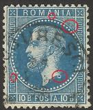 Cumpara ieftin VARIETATE-CURIOZITATE-CAROL I PARIS-10 BANI -CU MICROSEMNE --1872, Stampilat