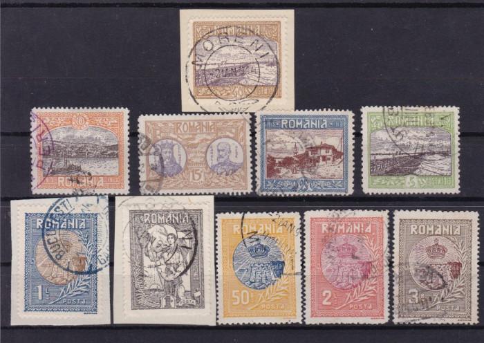 ROMANIA 1913  LP 69   SILISTRA   SERIE  STAMPILATA