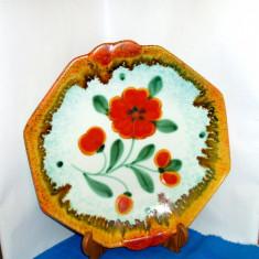 Fructiera Art Deco ceramica uranglasur cca 1930 - decor EVA - Annaburger Germany
