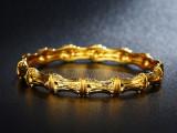 Bratara dama dublu placata aur 24K Cod produs: B241, Femei