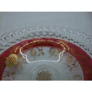 FRUCTIERA DIN CRISTAL ,,ECHT KRISTAL  CU MARGINEA PERFORATA  DECORATA MANUAL