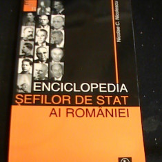 ENCICLOPEDIA SEFILOR DE STAY AI ROMANIEI-NICOLAE C. NICOLESCU-1862-2007-237 PG-, Alta editura