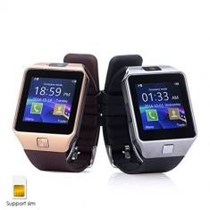 Smartwatch Dz09, Otel inoxidabil, 38mm, Argintiu, Android Wear, Apple Watch