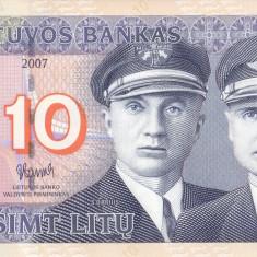 Bancnota Lituania 10 Litu 2007 - P68 UNC