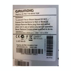 Plasma tv Grunding Xephia 42 PW 110-5510 TOP Defect - Televizor plasma Grundig, 107 cm, HD Ready