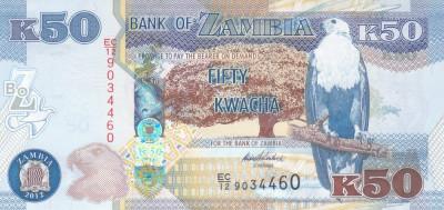Bancnota Zambia 50 Kwacha 2012 - P53 UNC foto
