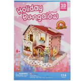 Puzzle 3D Casuta Bungalow 114 piese, cubic fun