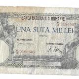 100000 lei 1946, foarte foarte uzat, dezastru total!