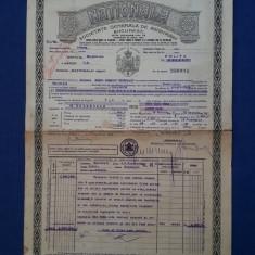 """Polita de asigurare - 1933 - Soc. """" Nationala """""""