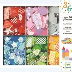 Cutie cu 800 de stickere geometrice Djeco